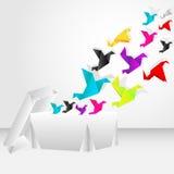 έναρξη origami μυγών κιβωτίων Στοκ Εικόνες
