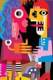 Ένας άνδρας και μια γυναίκα απεικόνιση αποθεμάτων