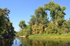 Ένας ήρεμος ποταμός σε βόρεια Καλιφόρνια στοκ εικόνες