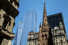 Ένας ΑΜΕΡΙΚΑΝΙΚΟΣ ορίζοντας η μεγάλη Apple 6 πόλεων της Νέας Υόρκης κατασκευής του World Trade Center Στοκ φωτογραφία με δικαίωμα ελεύθερης χρήσης
