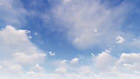 Ένας ανοικτό μπλε ουρανός με τα άσπρα σύννεφα απεικόνιση αποθεμάτων