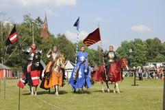 Ιππότες στο άλογο Στοκ φωτογραφία με δικαίωμα ελεύθερης χρήσης