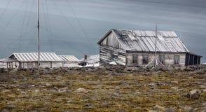 Ένας από τους παλαιότερους πολικούς σταθμούς στην Αρκτική Franz Josef Land στοκ εικόνες