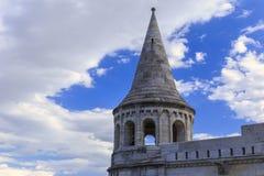 Ένας από τους πύργους του προμαχώνα του ψαρά στη Βουδαπέστη στοκ φωτογραφία με δικαίωμα ελεύθερης χρήσης