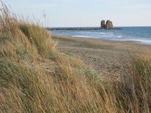 Ένας αρχαίος πύργος στη θάλασσα σε Ladispoli Ιταλία Στοκ εικόνες με δικαίωμα ελεύθερης χρήσης