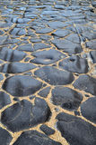 Ένας αρχαίος ρωμαϊκός δρόμος με τις αυλακιές Στοκ εικόνα με δικαίωμα ελεύθερης χρήσης