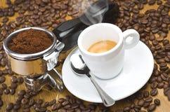 Ένας αρχηγός ομάδας μηχανών espresso Στοκ Εικόνες