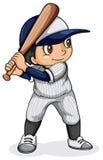 Ένας ασιατικός παίχτης του μπέιζμπολ διανυσματική απεικόνιση