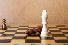 Ένας βασιλιάς σκακιού που εξουσιάζει άλλο Στοκ Εικόνες