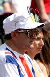 Ένας βρετανικός υποστηρικτής στους Ολυμπιακούς Αγώνες 2012 Στοκ φωτογραφία με δικαίωμα ελεύθερης χρήσης