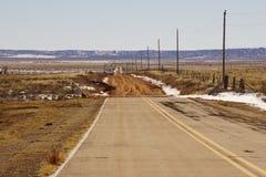 Ένας βρώμικος δρόμος Νέων Μεξικό στοκ εικόνες