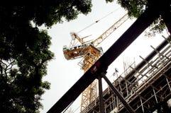 Ένας γερανός κατασκευής Στοκ Φωτογραφία