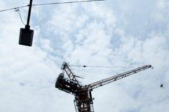 Ένας γερανός κατασκευής Στοκ φωτογραφία με δικαίωμα ελεύθερης χρήσης