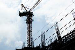 Ένας γερανός κατασκευής Στοκ Φωτογραφίες