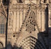 Ένας γοτθικός καθεδρικός ναός στη Βαρκελώνη στοκ εικόνες