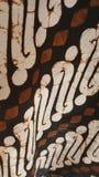 Ένας δημοφιλής των της Ιάβας κλασικών σχεδίων του μπατίκ Στοκ Φωτογραφίες