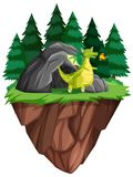Ένας δράκος ζωντανός στη σπηλιά ελεύθερη απεικόνιση δικαιώματος