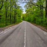 Ένας δρόμος ασφάλτου με μια εφαρμοσμένη αξονική γραμμή στοκ εικόνα με δικαίωμα ελεύθερης χρήσης