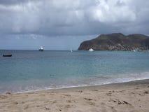 Ένας ειδυλλιακός τόπος προορισμού τουριστών στις Καραϊβικές Θάλασσες απόθεμα βίντεο