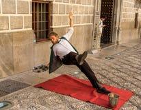 Ένας εκτελεστής οδών στη Γρανάδα, Ισπανία στοκ εικόνες