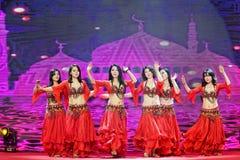Ένας εμπαθής χορός κορίτσι-κοιλιών της Τουρκίας Στοκ εικόνες με δικαίωμα ελεύθερης χρήσης
