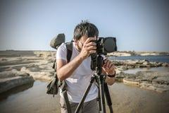Ένας επαγγελματικός φωτογράφος στοκ φωτογραφίες με δικαίωμα ελεύθερης χρήσης