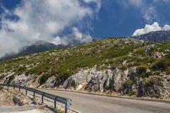 Ένας επικίνδυνος δρόμος βουνών στο Alban Mountains Ο δρόμος του de στοκ φωτογραφία με δικαίωμα ελεύθερης χρήσης