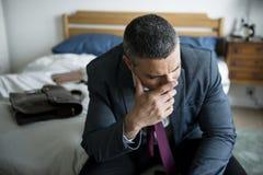 Ένας επιχειρηματίας που φωνάζει στο δωμάτιο Στοκ Φωτογραφίες