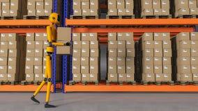 Ένας εργαζόμενος αποθηκών εμπορευμάτων ρομπότ Στοκ Φωτογραφία