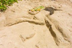 Ένας ετήσιος ανταγωνισμός sandcastle στα προσήνεμα νησιά Στοκ Εικόνα