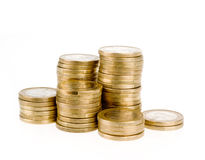 Ένας ευρο- σωρός νομισμάτων Στοκ Εικόνα