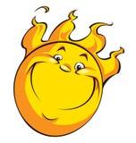 Ευτυχής ήλιος χαμόγελου Στοκ εικόνα με δικαίωμα ελεύθερης χρήσης