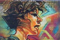 Ένας ευτυχής νέος τύπος, γκράφιτι στο αστικό ύφος Στοκ Εικόνες