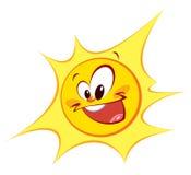 Ευτυχής ήλιος (χρωματισμένες περιλήψεις) Στοκ εικόνα με δικαίωμα ελεύθερης χρήσης