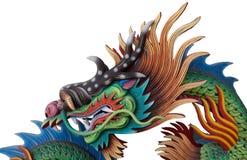 Ένας ζωηρόχρωμος κινεζικός δράκος που απομονώνεται Στοκ Φωτογραφία