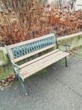 Ένας ζωηρόχρωμος πάγκος στο πάρκο στοκ φωτογραφία με δικαίωμα ελεύθερης χρήσης