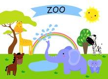 Ένας ζωολογικός κήπος και τα ζώα Στοκ Εικόνες