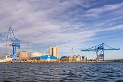 Ένας θαλάσσιος λιμένας Oxelosund στη Σουηδία Στοκ εικόνες με δικαίωμα ελεύθερης χρήσης