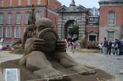 Ένας διαγωνισμός κατασκευής άμμου στο Δουβλίνο, Ιρλανδία Στοκ Φωτογραφία