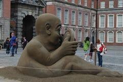 Ένας διαγωνισμός κατασκευής άμμου στο Δουβλίνο, Ιρλανδία Στοκ Φωτογραφίες