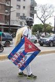 Ένας διαμαρτυρόμενος στο Καράκας ενάντια στην της Βενεζουέλας κυβέρνηση Στοκ εικόνα με δικαίωμα ελεύθερης χρήσης