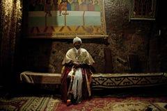Ένας ιερέας σε Lalibela Στοκ Φωτογραφίες