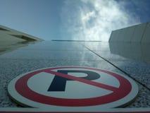 Ένας κάθετος χώρος στάθμευσης Στοκ φωτογραφία με δικαίωμα ελεύθερης χρήσης