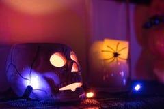 Ένας κάτοχος κεριών κρανίων Στοκ φωτογραφίες με δικαίωμα ελεύθερης χρήσης