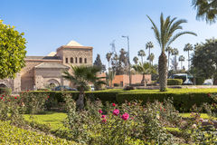 Ένας κήπος στο Μαρακές, Μαρόκο Στοκ Εικόνα