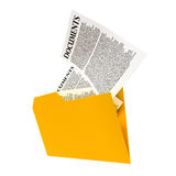 Ένας κίτρινος φάκελλος Στοκ εικόνες με δικαίωμα ελεύθερης χρήσης