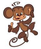 Ευτυχής πίθηκος κινούμενων σχεδίων Στοκ Φωτογραφίες