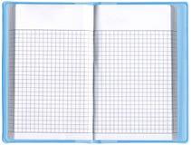 Ένας κενός διοργανωτής σημειωματάριων, κενός υπολογισμός με λογιστικό φύλλο (spreadsheet), Στοκ Φωτογραφία