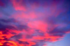 Ένας κόκκινος ουρανός πυρκαγιάς Στοκ Εικόνες