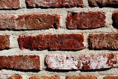 Ένας κόκκινος παλαιός τοίχος τούβλων με την παλαιά τεκτονική Κόκκινη παλαιά πλινθοδομή 2 Στοκ Εικόνες